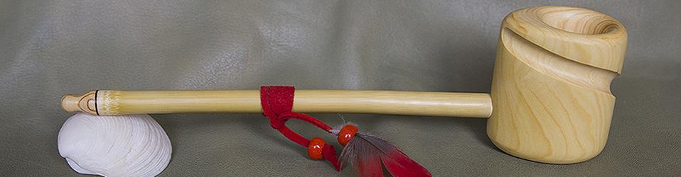 #0024 WANAGI TACAKU pipe sacrée de cérémonie
